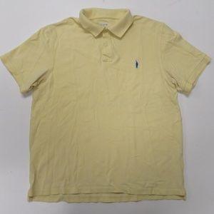 J Crew Polo Shirt Mens Large Yellow 90s VTG